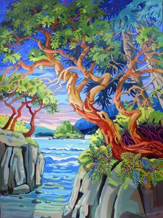 Landscape Drawings, Watercolor Landscape, Landscape Art, Landscape Paintings, Landscapes, Different Art Styles, Mini Canvas Art, Pintura Country, Painting Workshop
