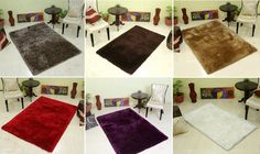 Some of our #supersoft #ShaggyCarpets, #ShaggyRugs collections. There are available in many #sizes.