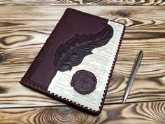 Fine Genuine Leather Blank Notebook Brown Personalized Gift Leather Journal A5 #MakeyStudio