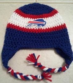 1e2f330d Buffalo Bills Team Spirit NFL beanie Crochet Baby Hats Free Pattern,  Crochet Owls, Crochet