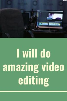 I can do professional video editing and post production on films, short clips, music videos,promotions,commercials, intros, VFX, Green screen cleaning and etc.
