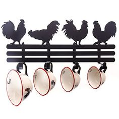 Set Of 2 Lined Rooster Baskets For Kitchen Vegetables Fruit Bathroom Home  Decor | Kitchens, Kitchen Decor And Country Decor