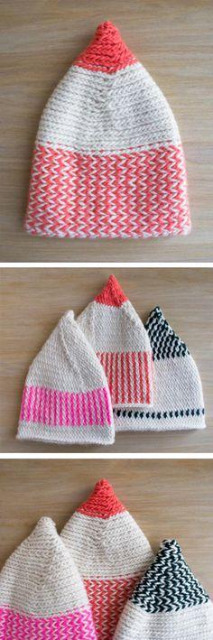 DIY Elf Hats - knitting pattern