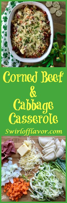 Cabbage, carrots and sweet onions sauteed in a Guinness reduction are layered with cheddar