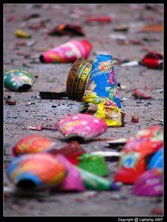 fireworks aftermath! Omg the street in front of our house and our driveway is a mess!! It was worth it though, our girls had a BLAST! Stayed up way past midnight with them! :D so much fun !