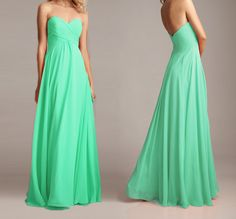 Mint Prom Dress Sweetheart Bridesmaid Dress Chiffon Prom Dresses Long Bridesmaid Dresses Formal Dress Wedding Dress on Etsy, $137.15 CAD