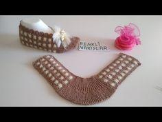 2019 Neu Modell I Shank Seamless Sehr schöne Ballerina Model ❤️ / Zwei Shish Booties Model Dik . Knitting Socks, Hand Knitting, Baby Knitting Patterns, Crochet Patterns, Ballerina, Modern Crochet, Ballet, Crochet Slippers, Models