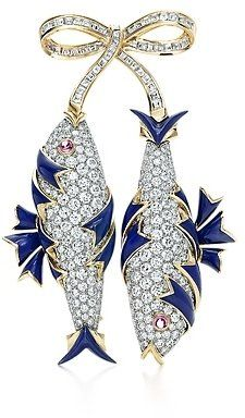 A Jean Schlumberger Diamond Two Fish Brooch for Tiffany.