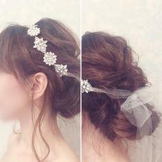リボンカチューシャを使った可愛いブライダルヘア・髪型まとめ | marry[マリー]