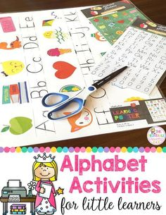 Alphabet activities that you can make yourself.