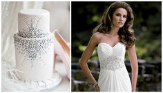 We love cakes that match our dresses! Check it out on It's a Bride's Life! we ♥ this! moncheribridals.com