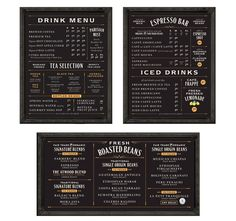 Balzac's Coffee Roasters menu boards