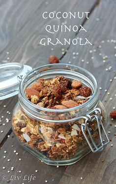 Super Coconut Quinoa Granola with Hemp and Goldenberries