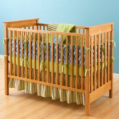 Natural Mission Style Solid American Maple Crib