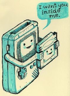 Gameboy-this is dirty and cute at the same time