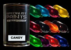 Gold Candy, Purple Candy, Orange Candy, Cherry Candy, Green Candy, Car Painting, Online Painting, Specialist Paint, Car Paint Colors