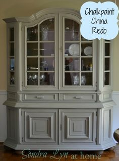 Lovely French Linen - China Cabinet Chalk Paint Makeover
