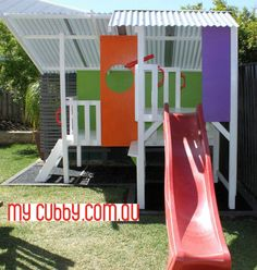 Great colurs in this triplex. You can see how much space there is in this cubby for so much active play as well as imagination play! #MyCubby #CubbyHouse #Cubbies #Cubby #OutdoorPlay #Kids #AussieKids #HappyKids #Backyard #BackyardIdeas #Christmas #ChristmasIdeas #ChristmasLayby