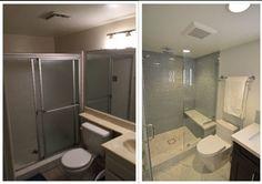 Corona CA Contemporary Master Bathroom Remodel Before After - Bathroom remodel ontario ca