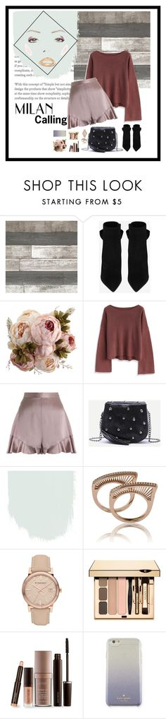 """""""Untitled #810"""" by salute-shauna ❤ liked on Polyvore featuring Yves Saint Laurent, Chicwish, Zimmermann, Burberry, Laura Mercier and Kate Spade"""
