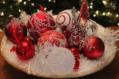 Design this bowl of ornaments from the  Contemporary Classics Collection.  Exclusivelychristmas.com