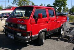 Volkswagen Typ 2 T3 Pritsche-DoKa/double-cab pickup Tristar syncro 1988-1991 this is awesome!