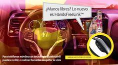 #HondaCity Sistema de manos libres HandsFreeLink™*  Sigue en contacto. Con la interfaz HandsFreeLink™* para teléfonos móviles con tecnología Bluetooth®*, puedes recibir o realizar llamadas sin quitar la vista del camino.