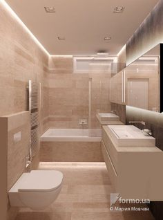 Floor Lighting Behind the Freestanding Tub. Bathroom Design Layout, Bathroom Design Inspiration, Bad Inspiration, Bathroom Design Luxury, Modern Bathroom Design, Home Interior Design, Family Bathroom, Small Bathroom, Master Bathroom