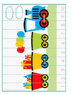 Train Activities, Toddler Learning Activities, Printable Activities For Kids, Counting Activities, Kindergarten Activities, Kids Learning, Transportation Theme Preschool, Numbers Kindergarten, Maths Puzzles