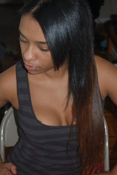 Peruvian Straight Clip In Hair Extensions (Ombre)