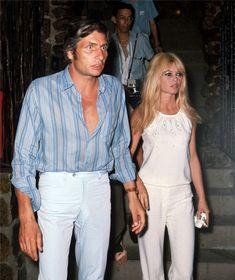 """"""" Brigitte Bardot & Gunter Sachs in 1966 """" Love that 1960s jet-set style !"""