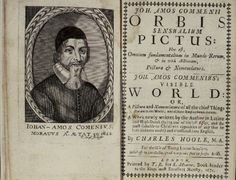 Jan Amos Komensky Orbis sensualium pictus 'The Visible World in Pictures' Orbis, English Book, Book Making, Czech Republic, My Favorite Things, Universe, Logo, History, Places