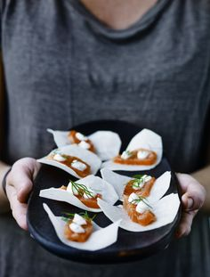 Crispy flakes of swede with smoked salmon & dill recipe @weyoutheyate.com