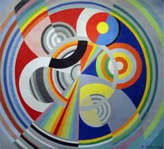 Robert Delaunay, 1938, Rythme n°1, Decoration for the Salon des Tuileries, oil on canvas, Musée d'Art Moderne de la ville de Paris