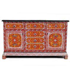 Mesita de noche blanca con puerta de rejilla decoracion for Muebles estilo arabe