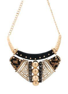 printed tribal bib necklace $33.90