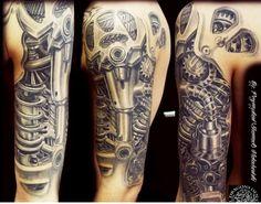 Biomechanics tattoo #bio-mechanical #tattoo #mechanical