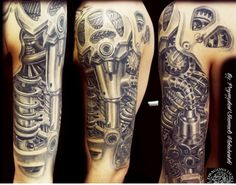 Biomechanics tattoo #bio-mechanical #tattoo #mechanical