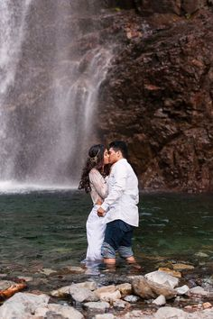 Waterfall kiss | Photo by Autumn L. Rudolph Photography
