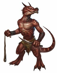 Kobold Warrior - Pathfinder PFRPG DND D&D d20 fantasy
