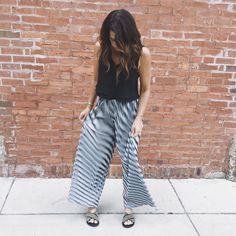 Christina Karin pants + Ancient Greek sandals
