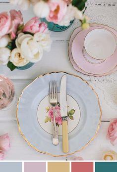Inspiração do Dia | Porcelana | Louça | Floral | Pastel