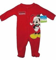 DISNEY MICKEY MOUSE Size 3 Months MY FIRST CHRISTMAS Romper