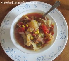 Harvest Hamburger Stew Recipe (with cabbage)