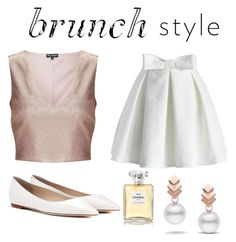 """""""Rose Gold and White 💕"""" by morgan-bryce ❤ liked on Polyvore featuring Chicwish, Jimmy Choo, Escalier, Miss Selfridge and Chanel"""