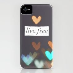 Live Free  iPhone Case by Valerie Bee - $35.00