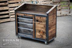 Iron Horse Server & Sales Station by urbanwoodandsteel on Etsy URBANWOODANDSTEEL.COM