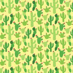 Fabric Cactus Potted Desert Plants Llama Coordinate Blue Denim Cotton 1//4 Yard