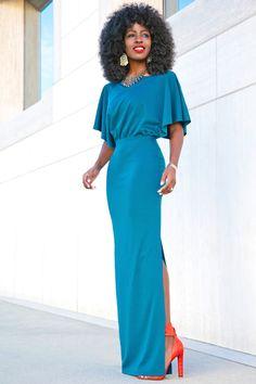 Style Pantry | Kimono Sleeves Maxi Dress