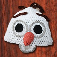 Crocheted Frozen Olaf Hat by klutzic on Etsy